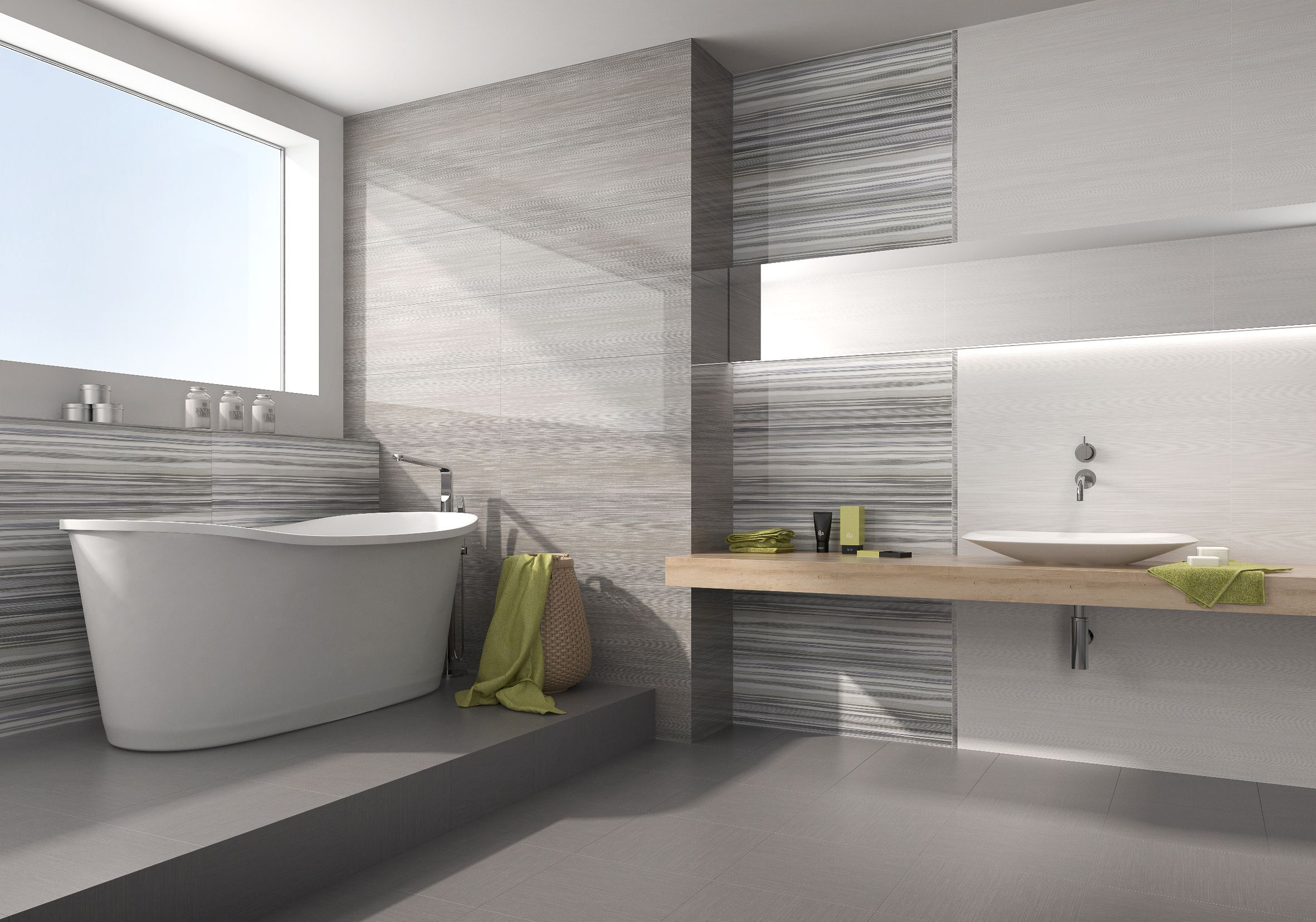 Pin By Renaissance Interior Design P On What S Hot In Tiles Bathroom Feature Wall Bathroom Wall Tile Grey Decor