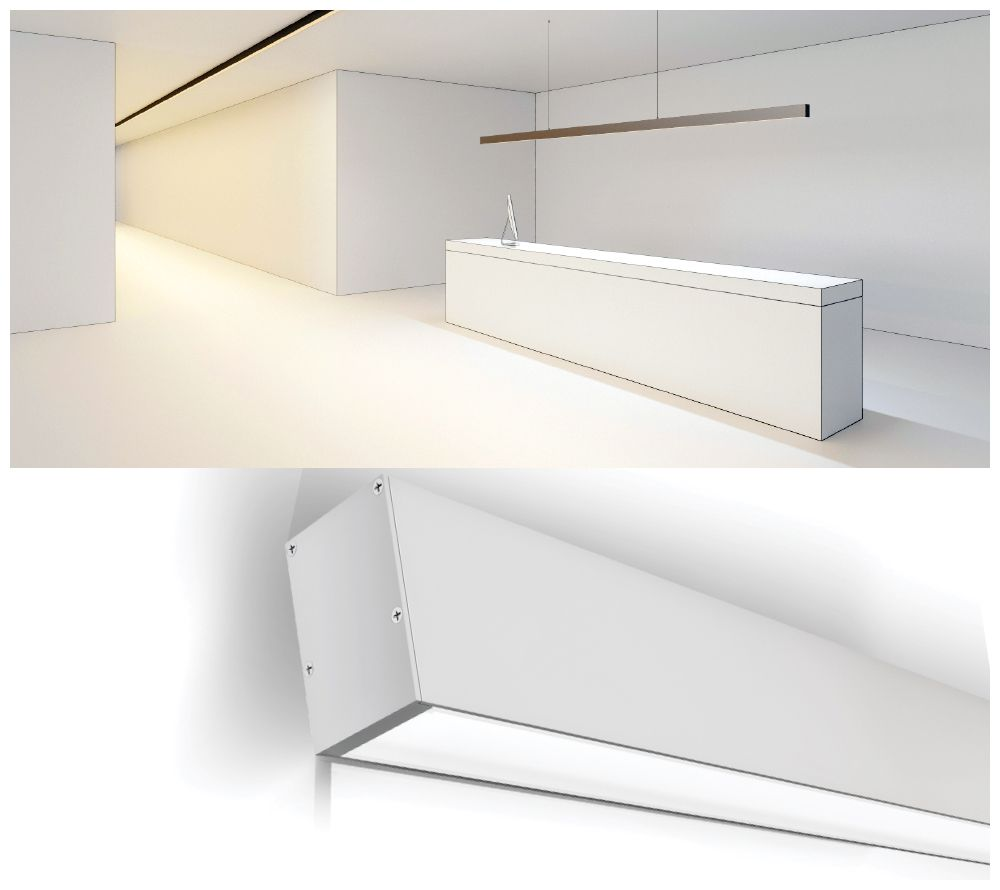 LUMIPRO SURFACE WITH PENDANT PROFILES - Elegant slim design made to enhance indoor settings, low power consumption and durable. #indoorlights #ledprofiles #pendantlights