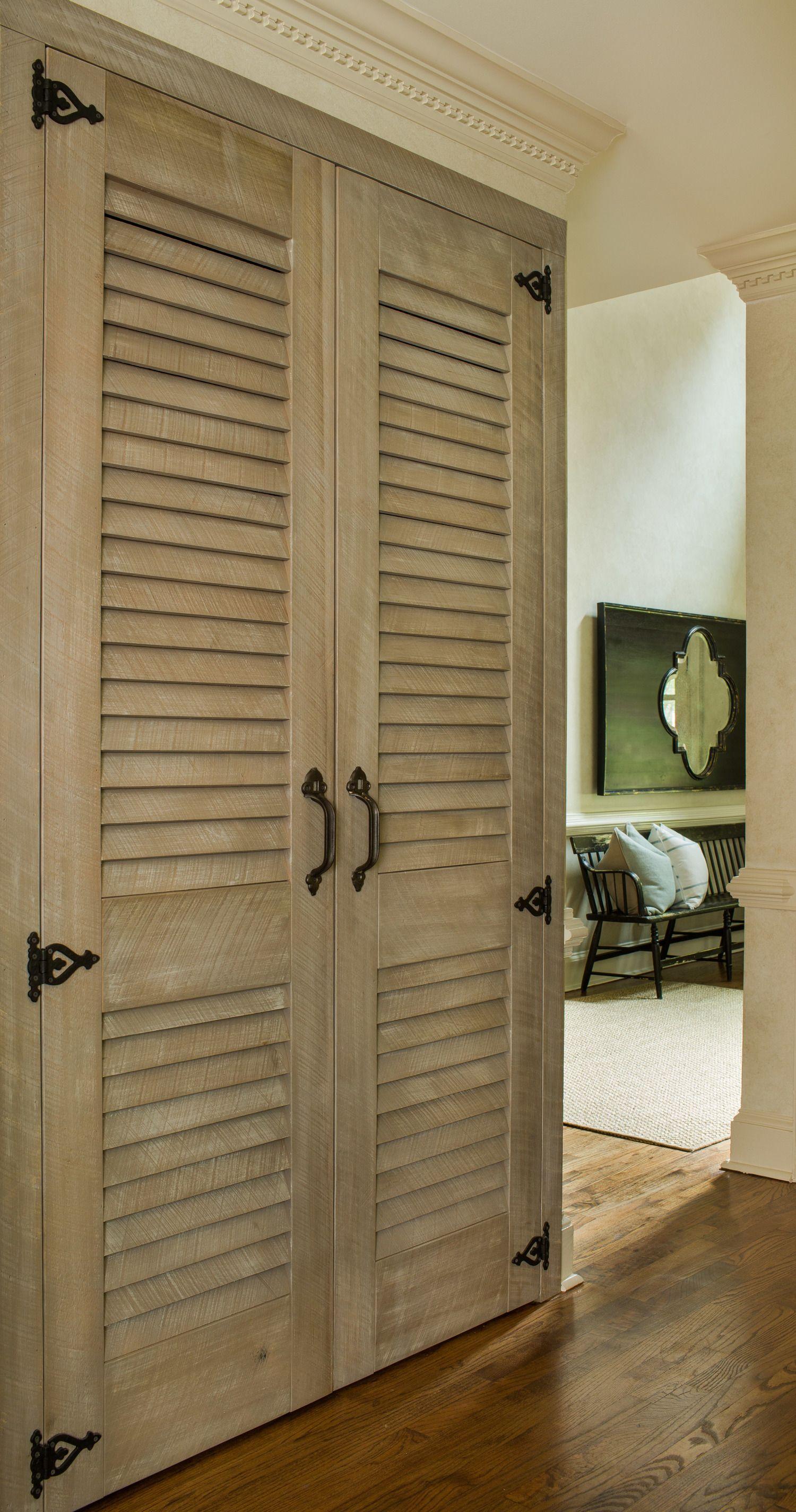 Strip The Shutter Doors Cupboard Doors Makeover Closet Door Makeover Old Closet Doors