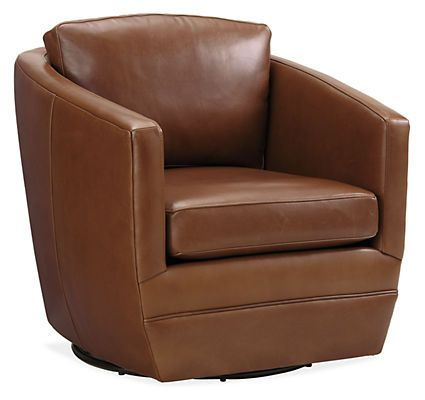 Ford Leather Swivel Chairs Modern Accent Lounge Chairs