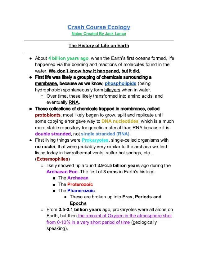 Ecological Succession Worksheet Answers Crash Course ...