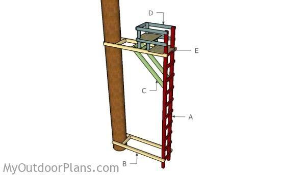 Building a ladder stand deer blind plans pinterest for Ladder tree stand plans