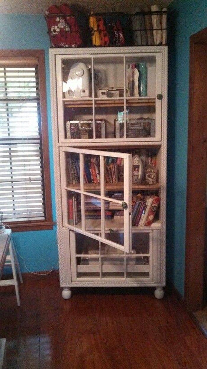Salvaged Windows Cabinet Doors Repurposed Furniture