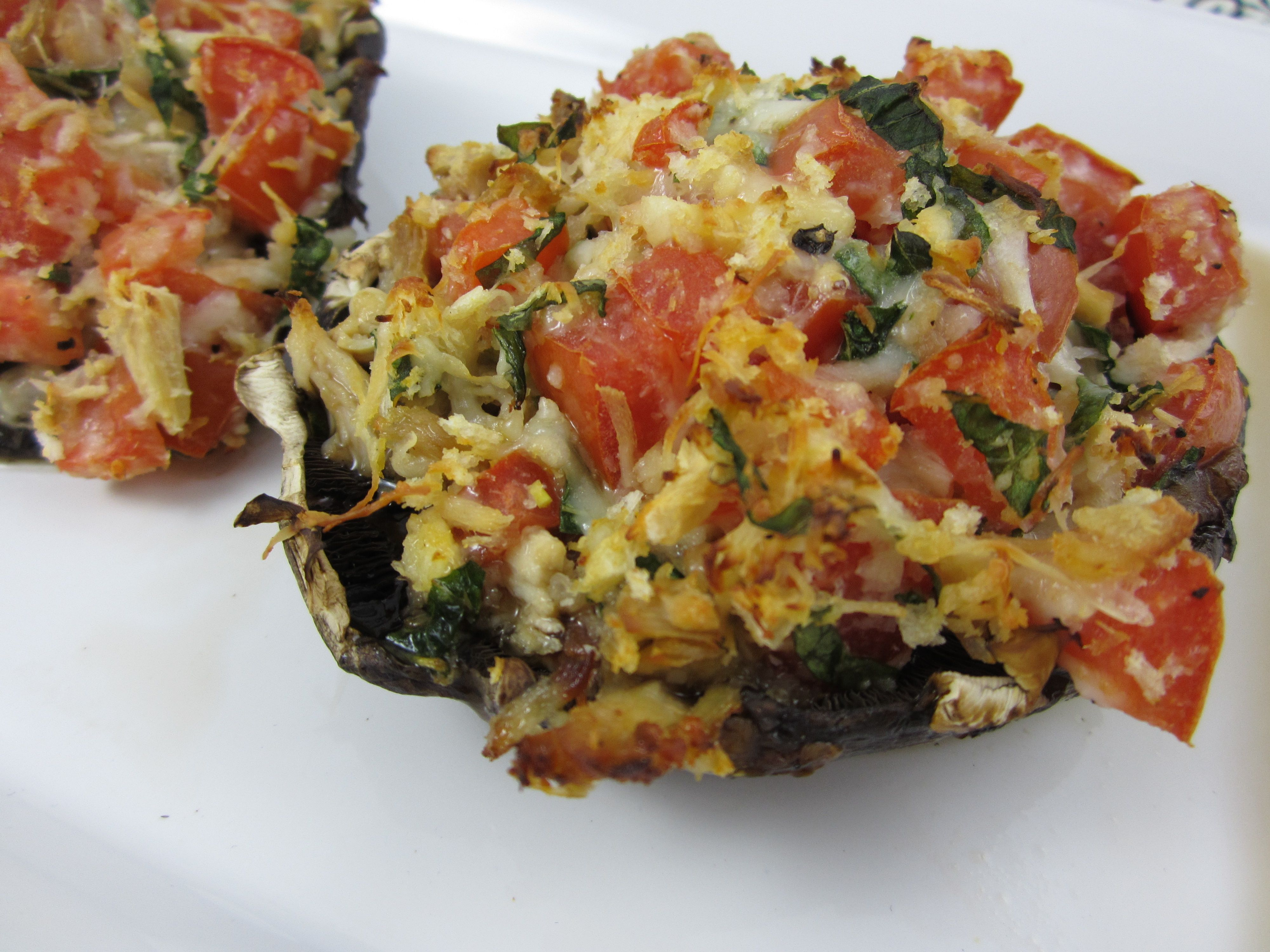 Stuffed Portobella Mushrooms..hmm may have to make these for the bestie since he loves mushrooms!