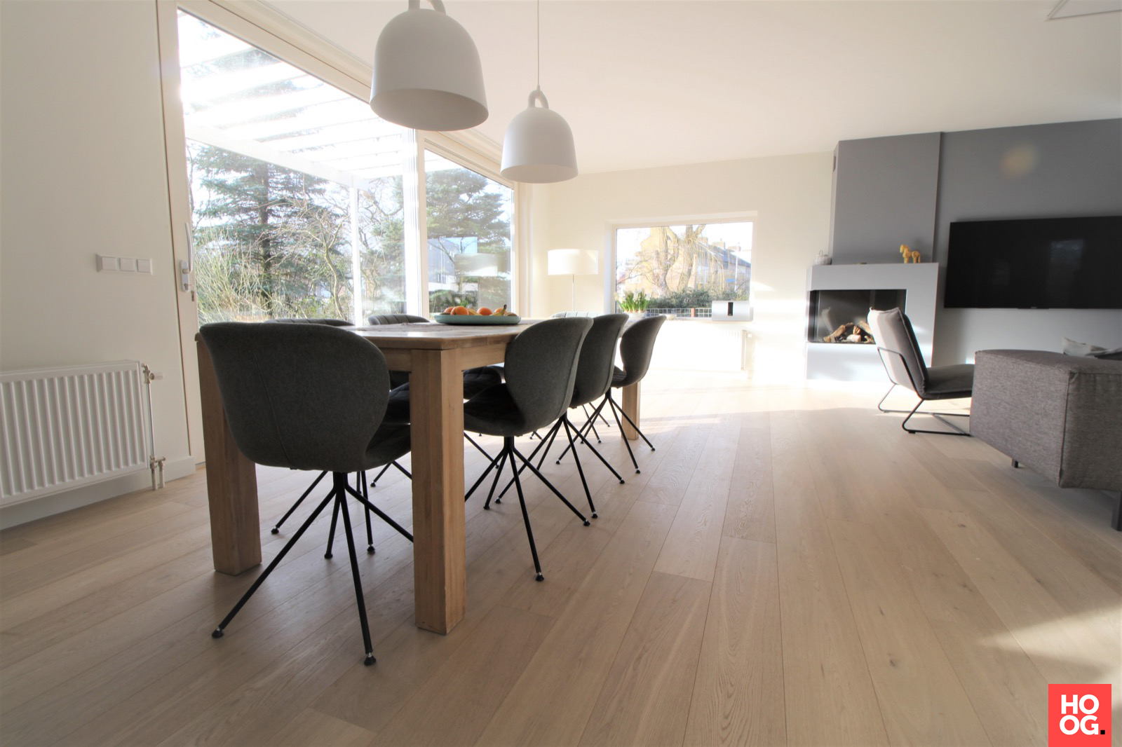 Eiken parketvloer in Amstelveen | eetkamer design | dining room | dining room design ideas | Hoog.design