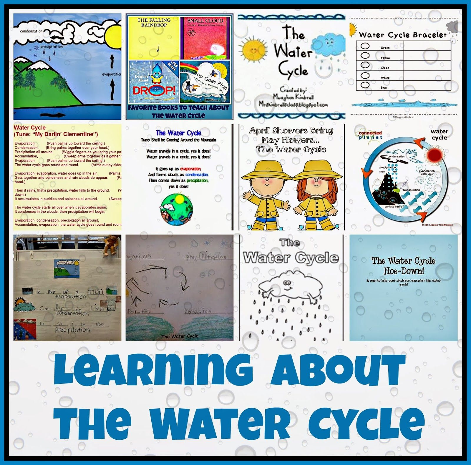 Great Blog Post With Lots Of Ideas About Teaching The Water Cycle