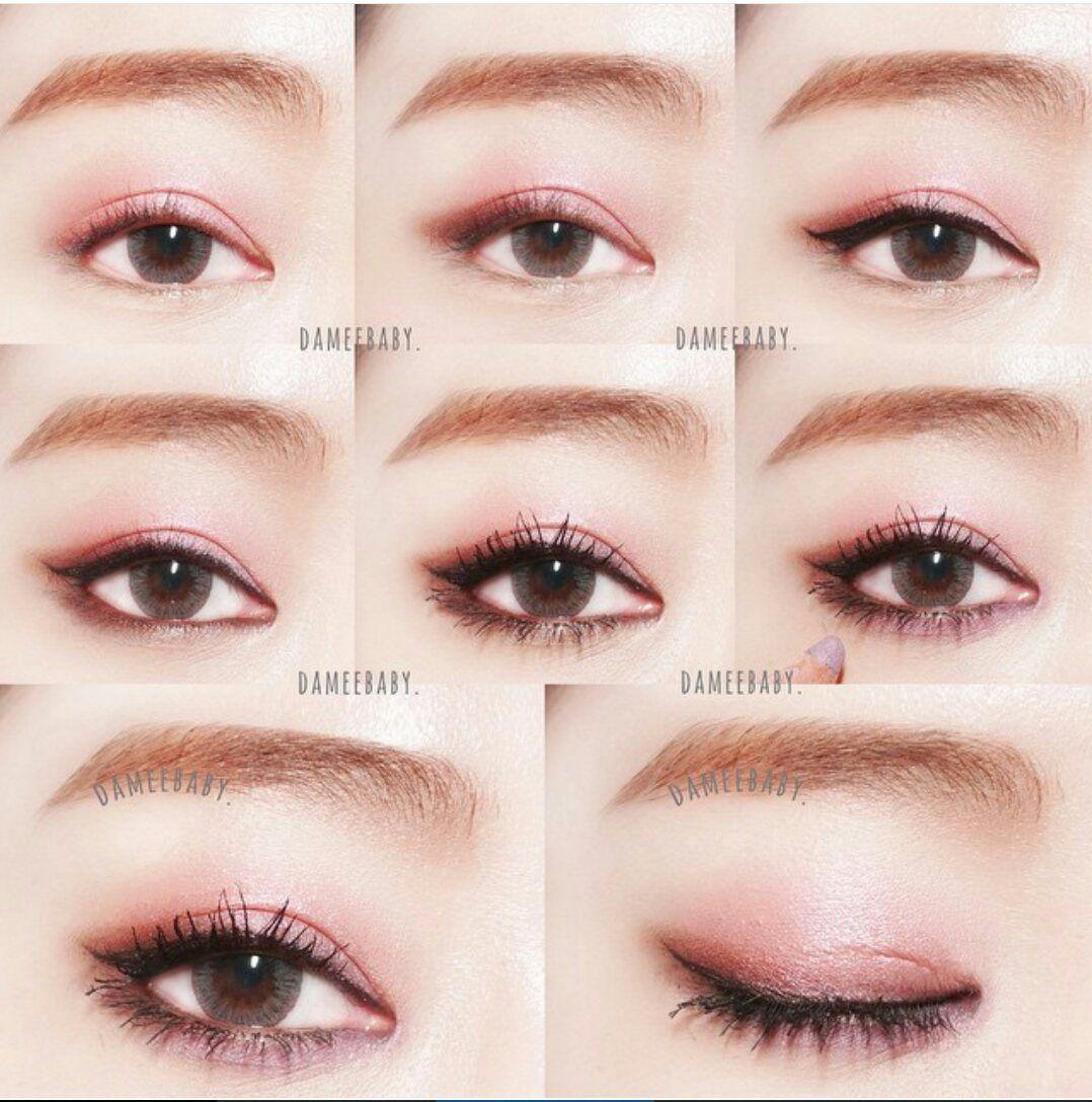 Asian pink eye makeup Korean eye makeup, Pink eye makeup