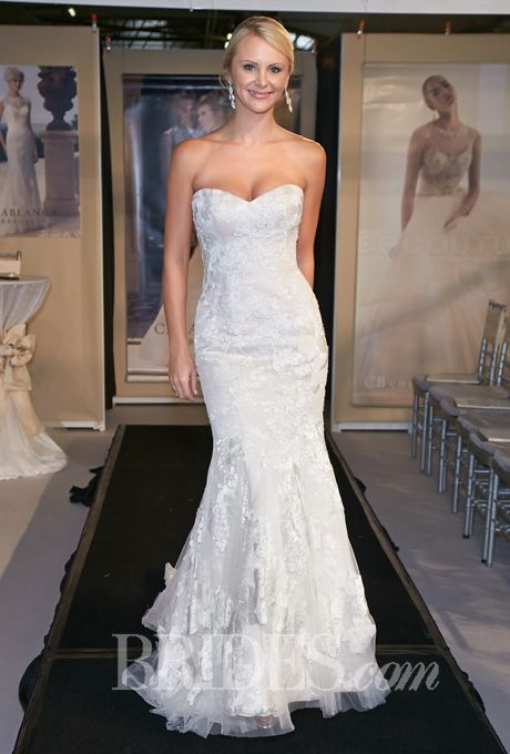 Casablanca Bridal - Spring 2014 - Style 2142 Silk Chiffon Strapless ...
