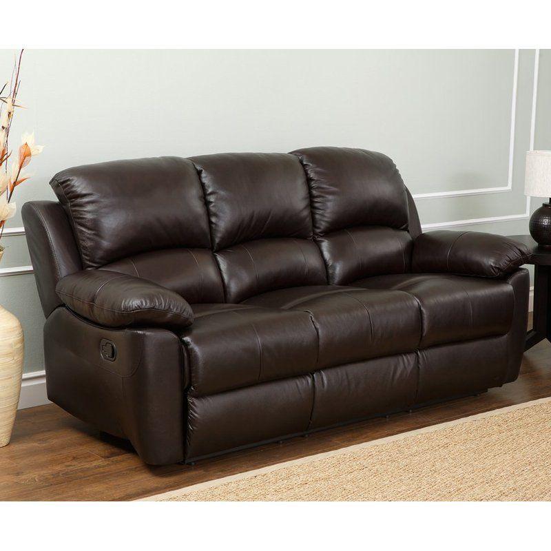 Abbyson Living Western Top Grain Leather Reclining Sofa ...