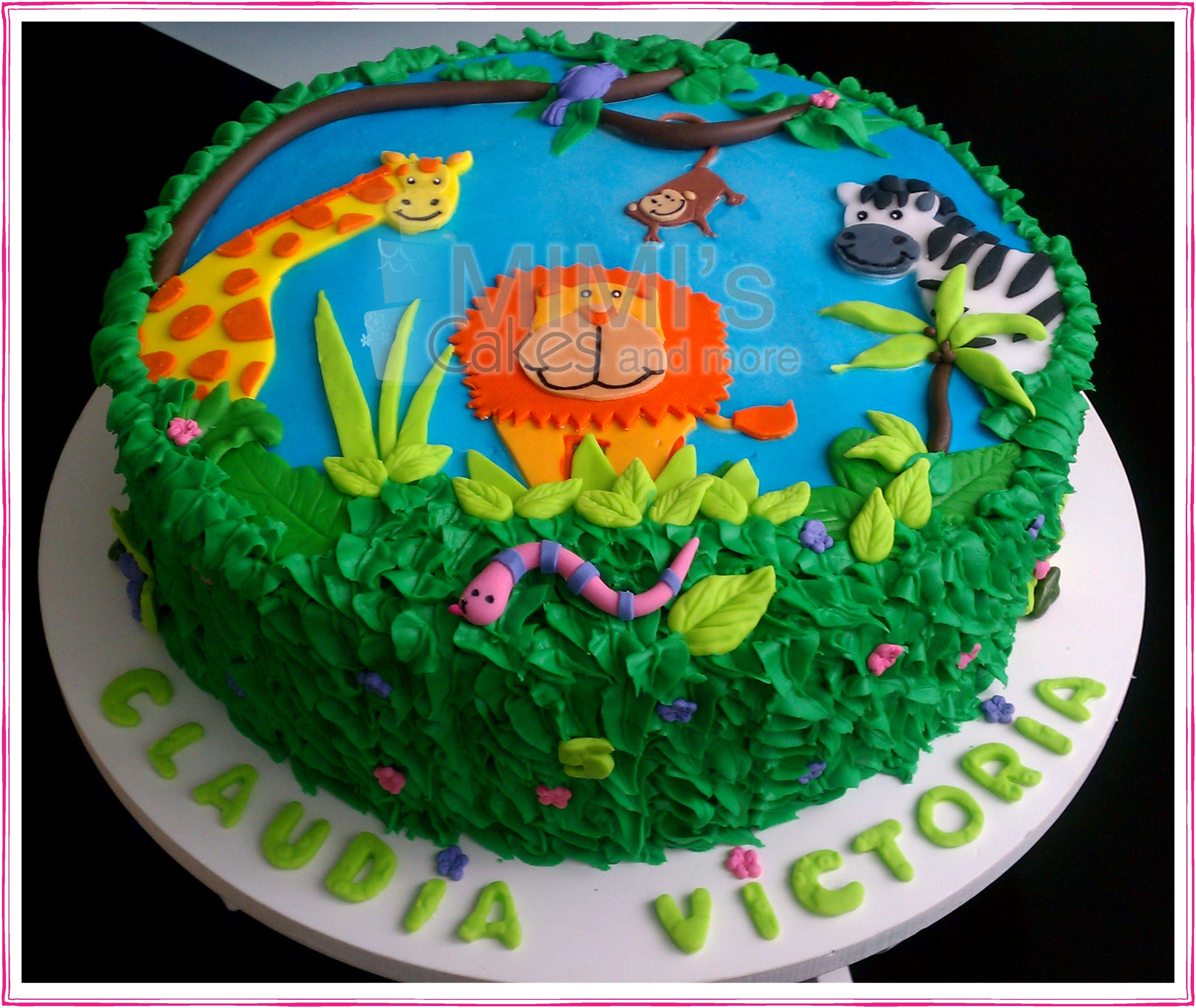 Jungle Cake Jungle Birthday Cakes