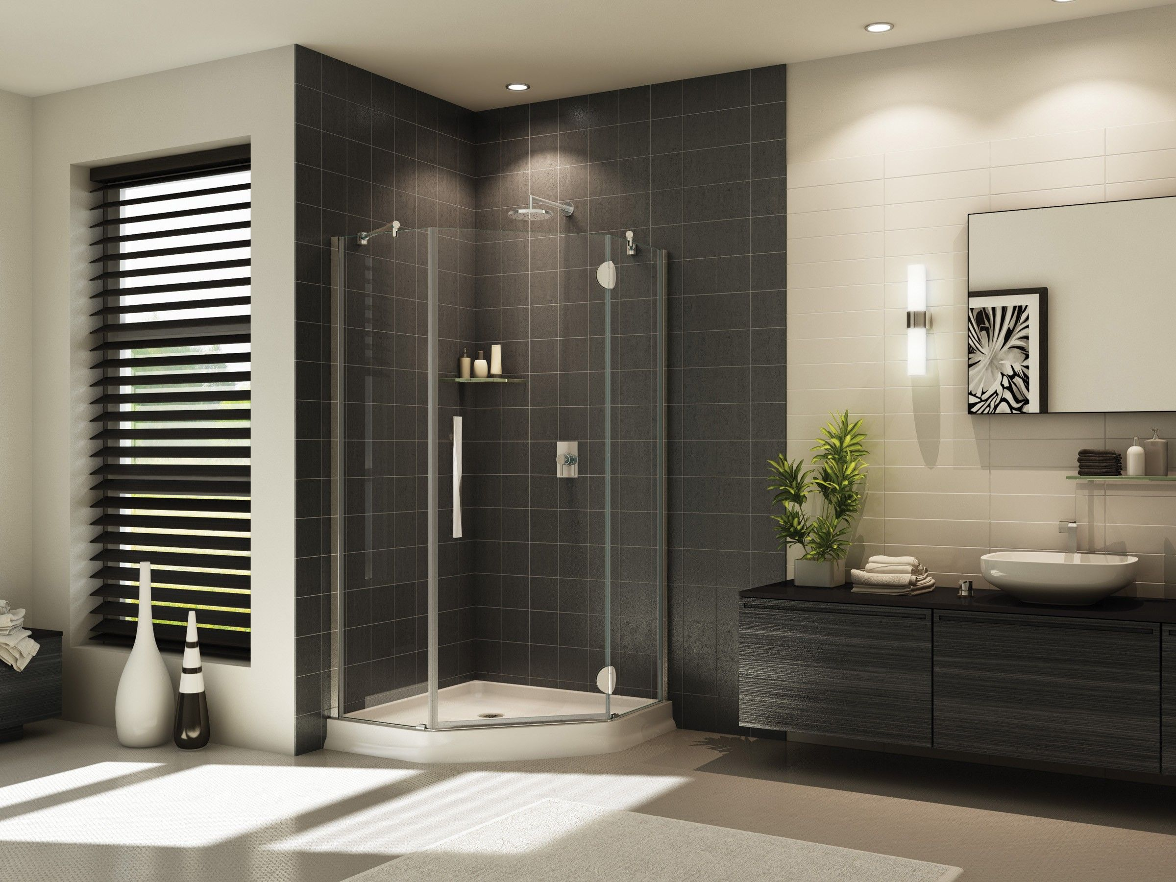 Fleurco Platinum Neo 42 X 42 Neo Angle Shower Door Glass To