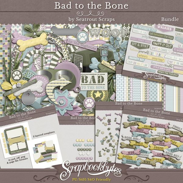 Bad to the Bone Bundle by Seatrout Scraps #49845