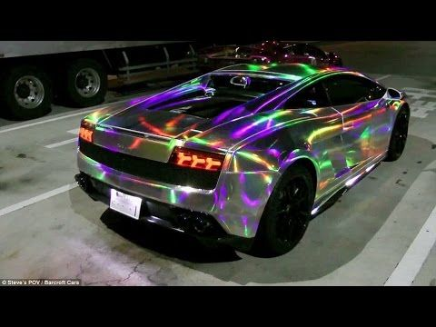 Beautiful Holographic Paint Job