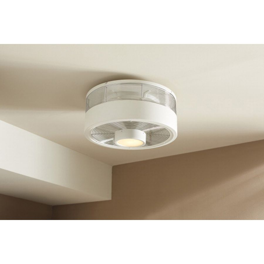 Shop Harbor Breeze Hive Series 18 In White Flush Mount Indoor Ceiling Fan With Light Kit And Remote 3 Blade At Lowes