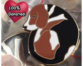 Sleeping Beagle Hard Enamel Pin |Cute Dog | Animal Charity | Hound Rescue | Fundraiser | Lapel Pin | Limited Edition | Cloissone Brooch