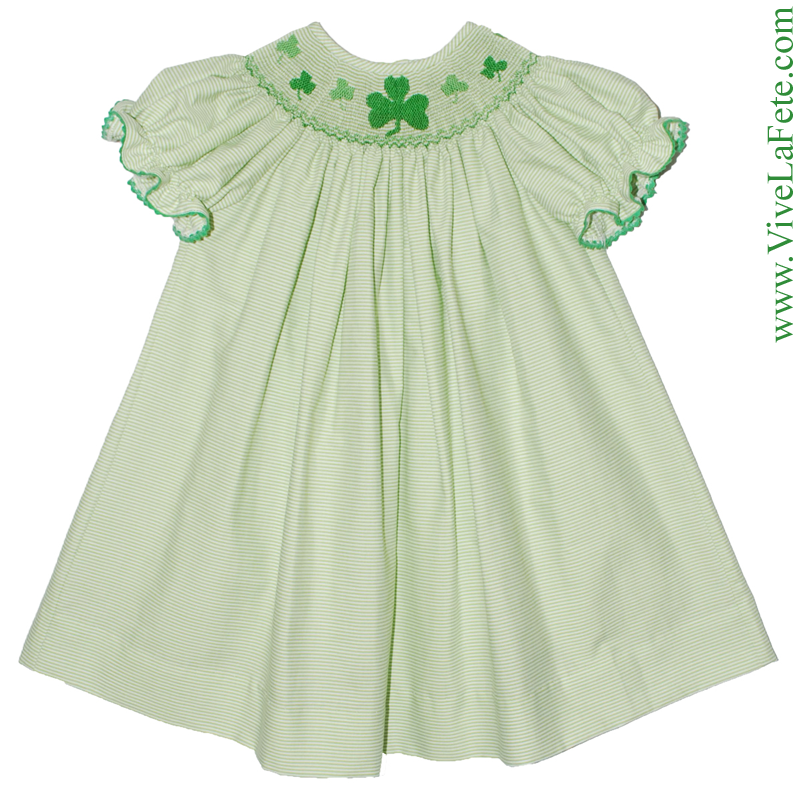 c1d4339bed0 Shamrock Smocked Girls Bishop Dress! Sale Price   26.34