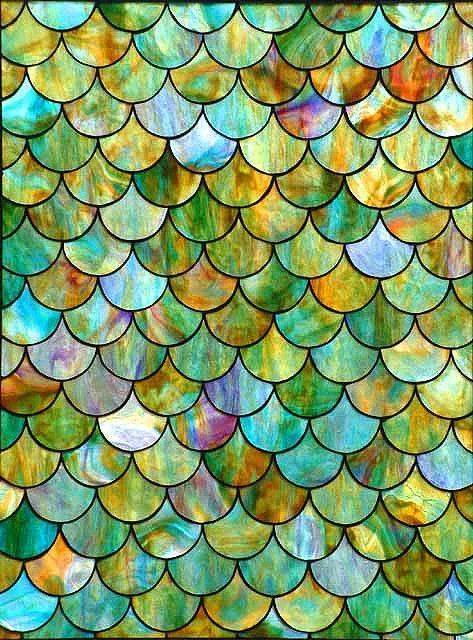 Fishscales Textures Ii Watercolor Art Canvas Prints