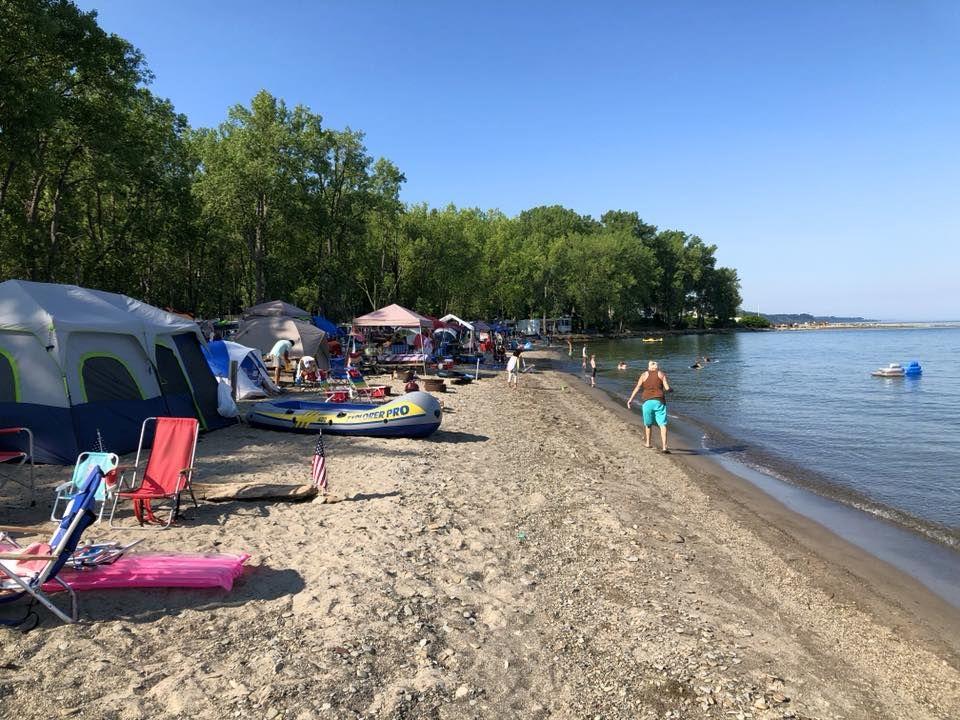Sara's Campground | Presque isle state park, Campground ...