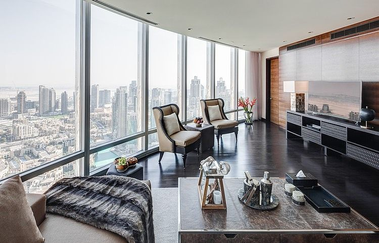 Burj Khalifa Apartment by Zen Interiors Zen interiors - farbiges modernes appartement hong kong