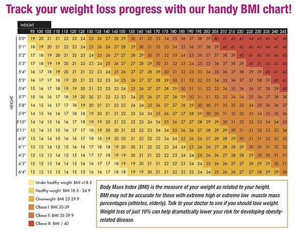 BMI Chart   Healthy Living   Weight loss calculator, Weight