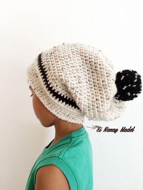 Si Nanay Madel: A Very Slouchy Hat | Crochet Patterns | Pinterest