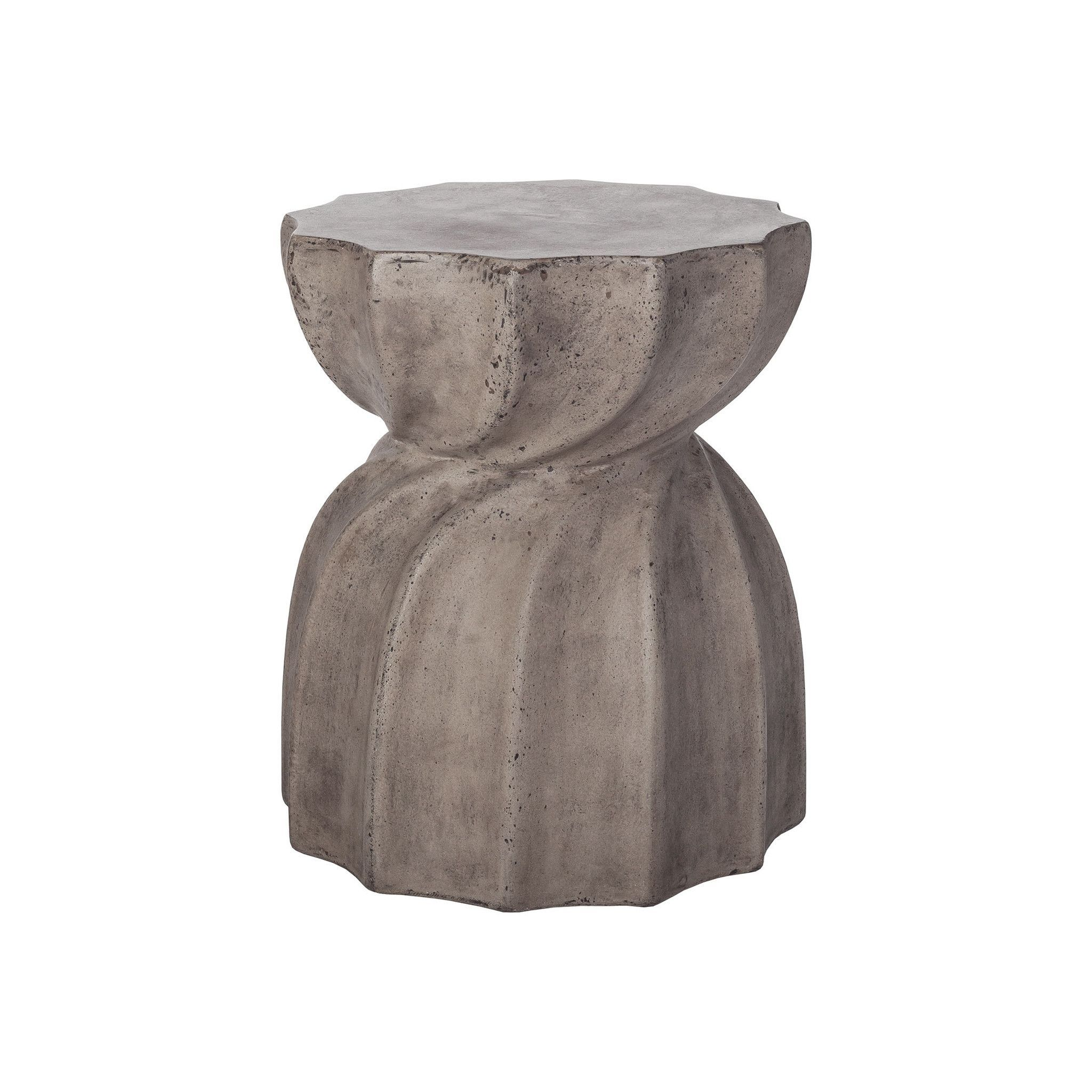 Industrial Warp Side Table In Waxed Concrete Finish