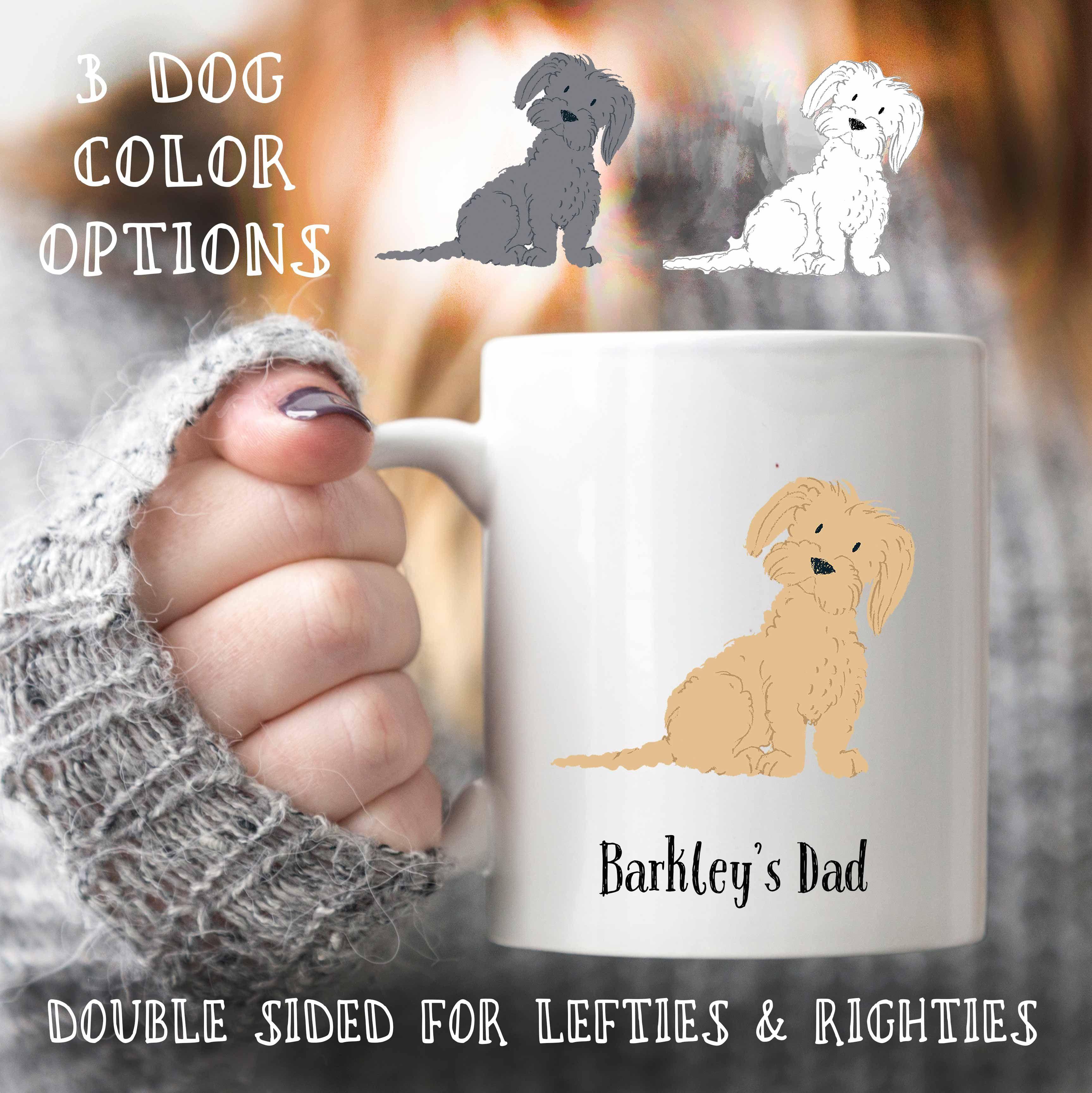 Maltese dog dad, personalized dog mug, dad dog, dog lover gift, pet mug, pet owner gift, custom dog mug