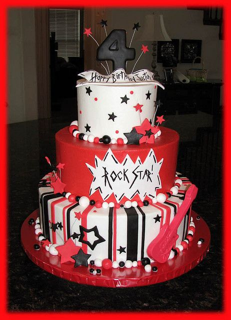 Justin S Rock And Roll Cake In 2019 Birthday Cake Rock