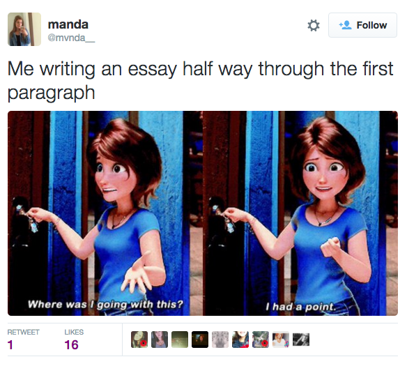 Writers of humorous essays use this technique
