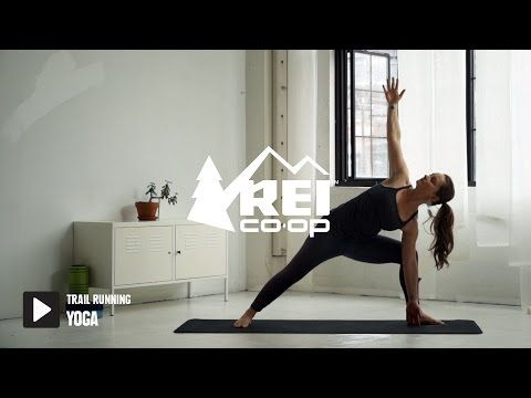 yoga for trail runners  rei  youtube with images