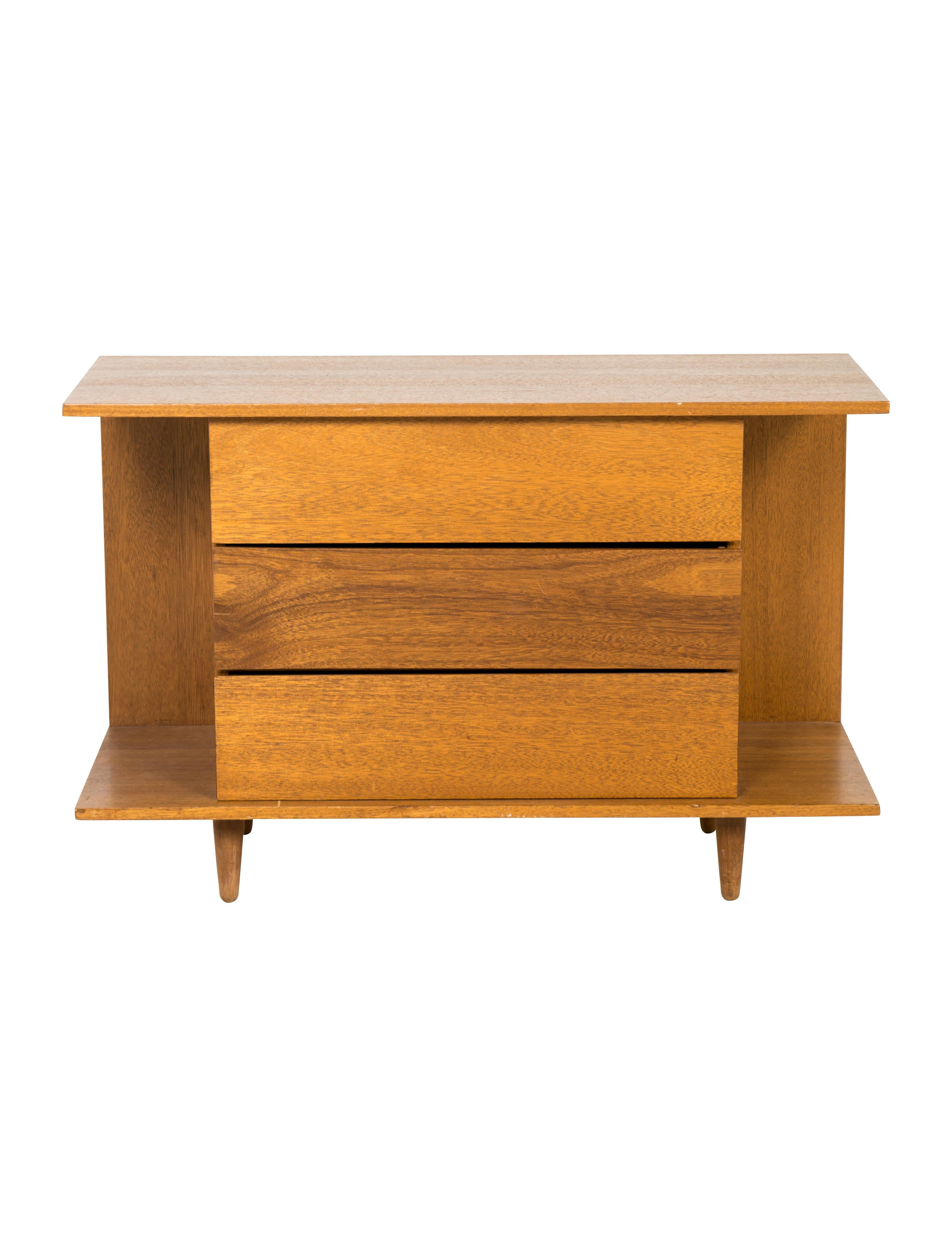 Mahogany Mid Century Modern Style Manuel Martin Dresser With Three Drawers Tapered Feet And Brand Stamp At Verso Dresser Furniture Oversized Art Luxury Items