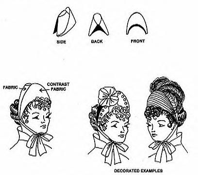 Women s Victorian Hat Sewing Patterns W722 1880 s Matron s Bonnet ... 364bfaf1973