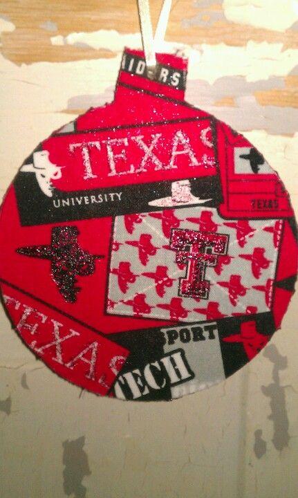 fabric covered texas tech christmas ornament fabric covered craft items texas tech christmas - Texas Tech Christmas Decorations