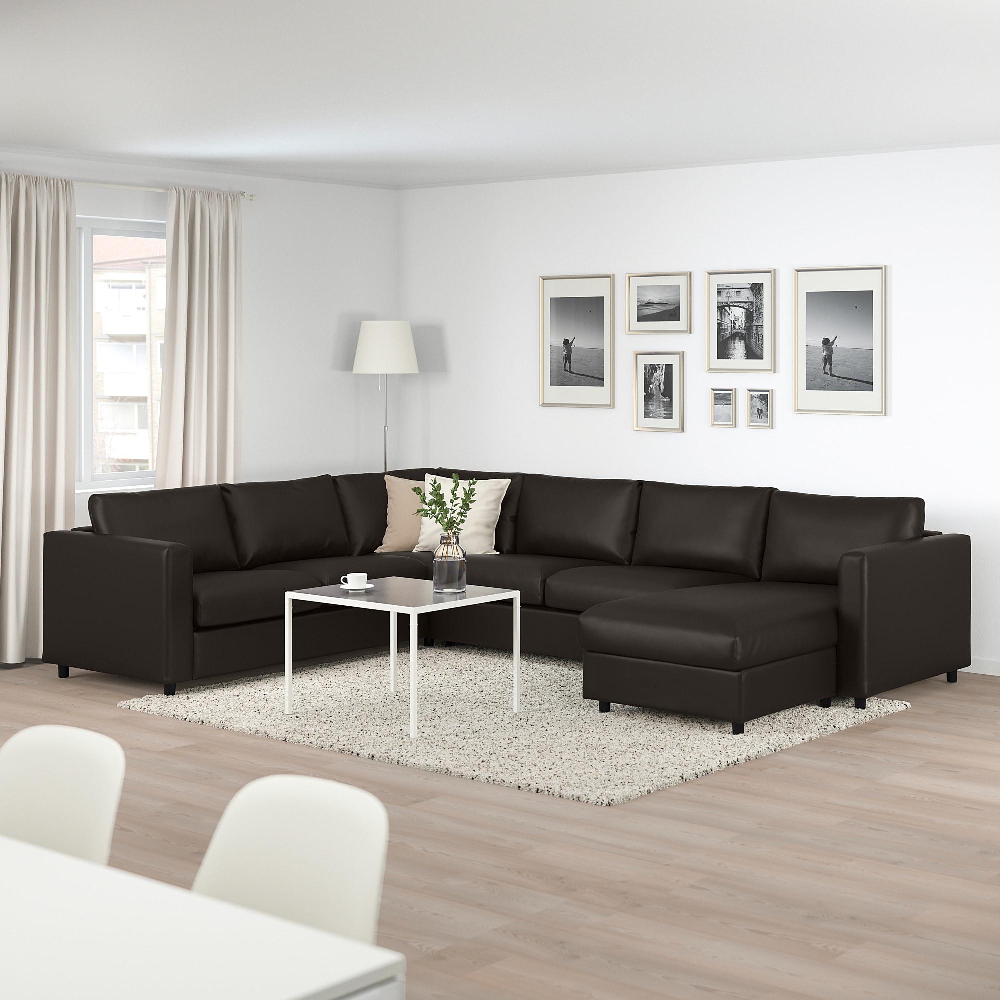 Vimle 5er Eckbettsofa Mit Recamiere Farsta Schwarz Ikea Osterreich Corner Sofa Living Room Corner Sofa Bed Living Room Sofa Design