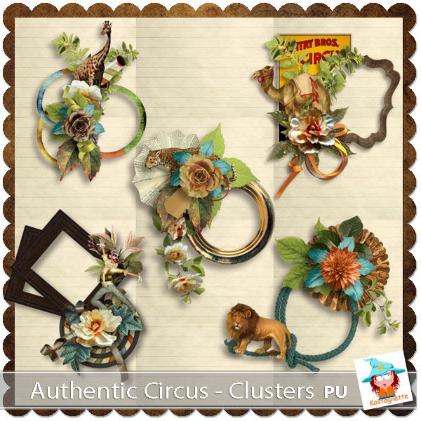 Authentic Circus Clusters by Kastagnette