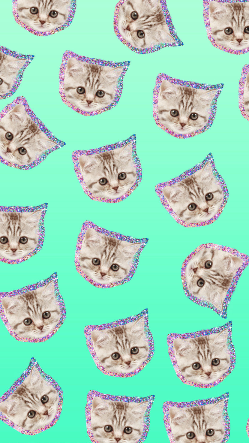 Glitter kittens wallpaper patterns pinterest wallpaper