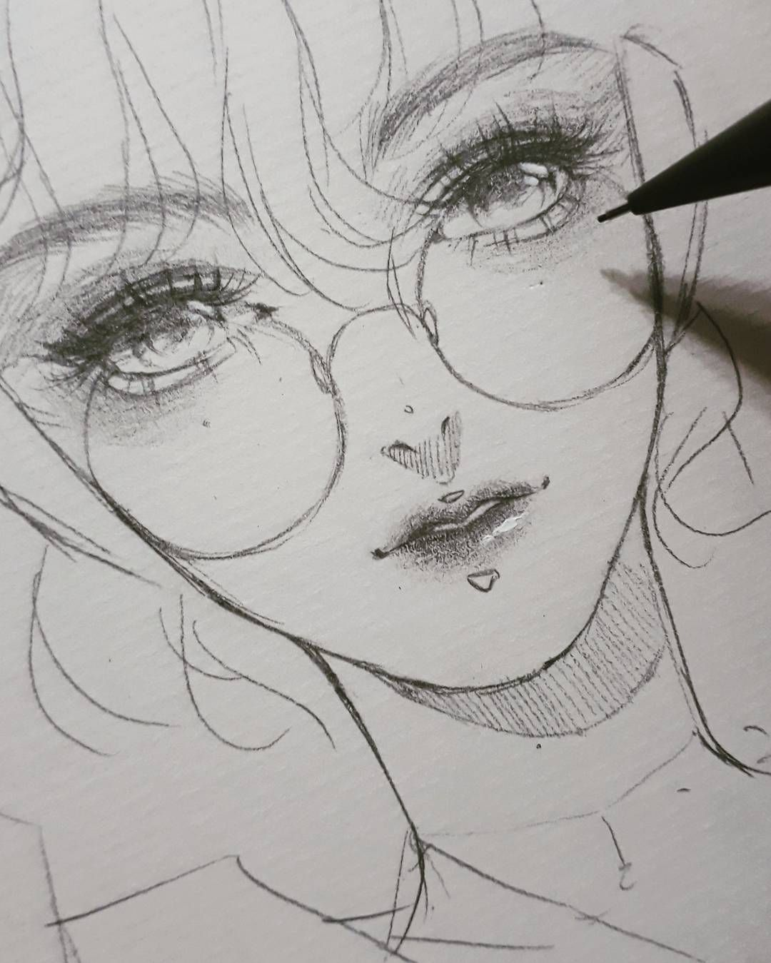 Koii On Instagram Nothing Special Tiring Day Pencil Illustration Anime Drawings Sketches 3d Drawings Anime Drawings