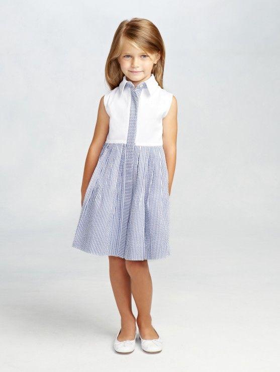 Cotton & Seersucker Shirt Dress | Costura para la peque (Patrones ...