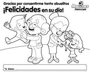 Dia Del Abuelo Colorear Imagui Grandparents Day Kindergarden Preschool