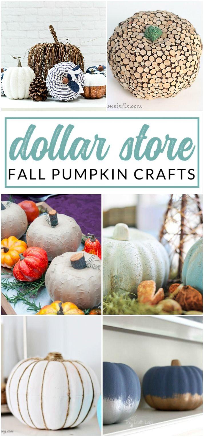 Dollar Store Pumpkin Crafts For Fall Fall Pumpkin Crafts Pumpkin Crafts Fall Decor Diy