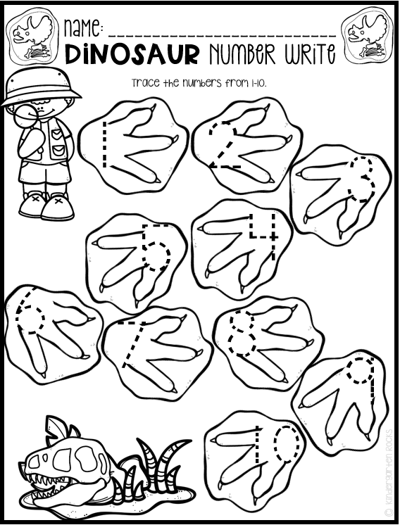 Dinosaur Math And Literacy Worksheets For Preschool (February) Dinosaur  Theme Preschool, Dinosaur Activities Preschool, Dinosaurs Preschool