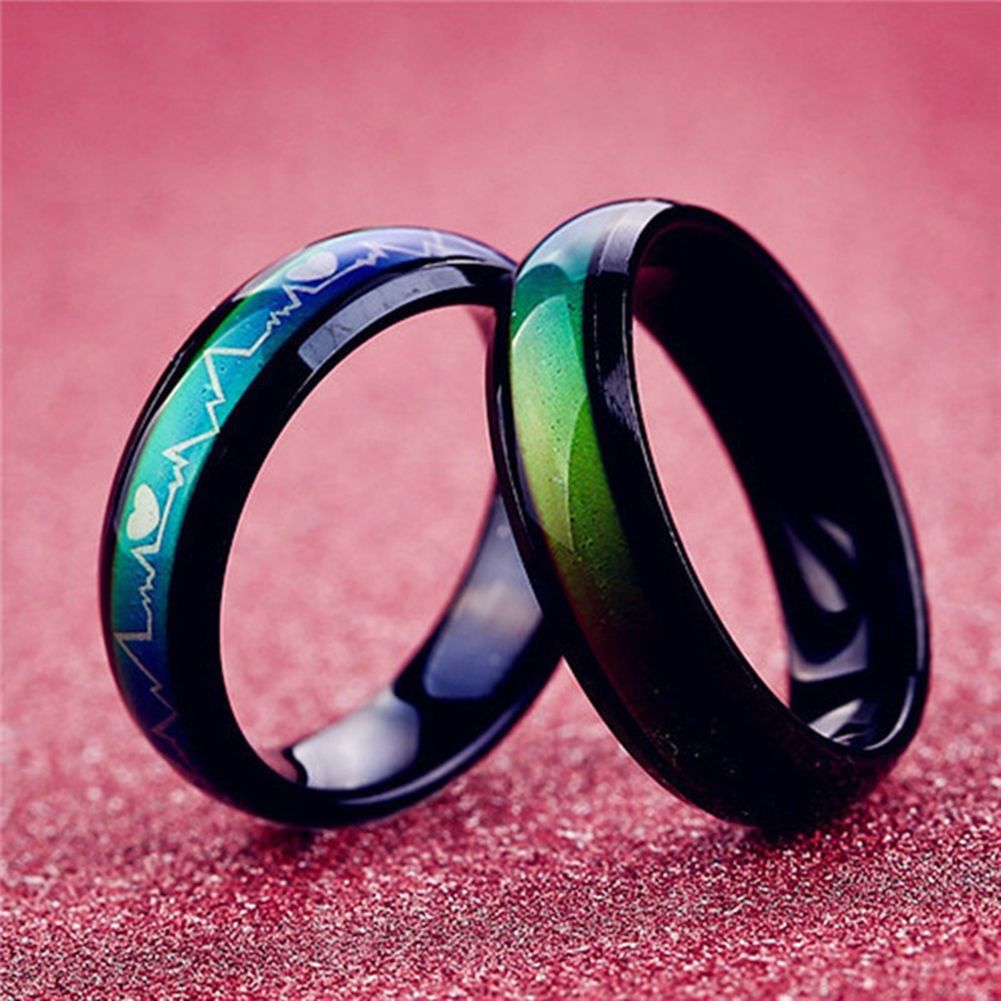 Ba_ Super Cool Quality Mood Band Ring, Color Changeable Mood Ring ...