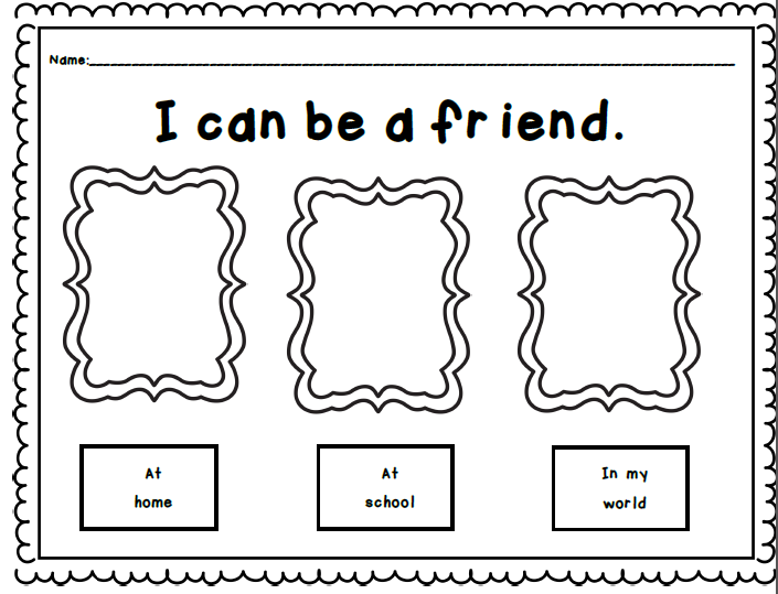 Friendship Worksheets For Kindergarten find a friend activity – Friendship Worksheets for Kindergarten