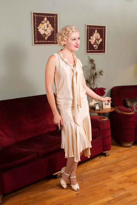 Vintage 1920s Wedding Gown - Fantastic Flapper Wedding Dress with ...