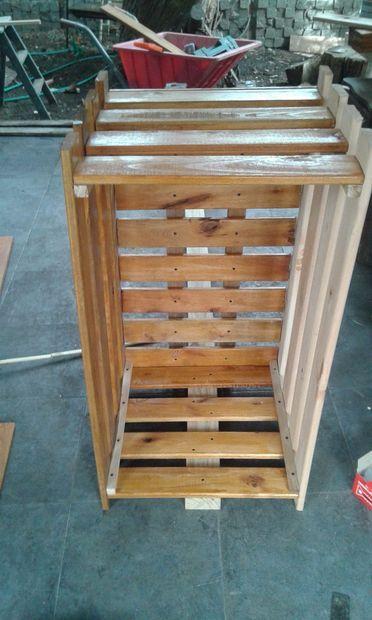 Picture of CANASTO DE MADERA Para la basura. wooden basket
