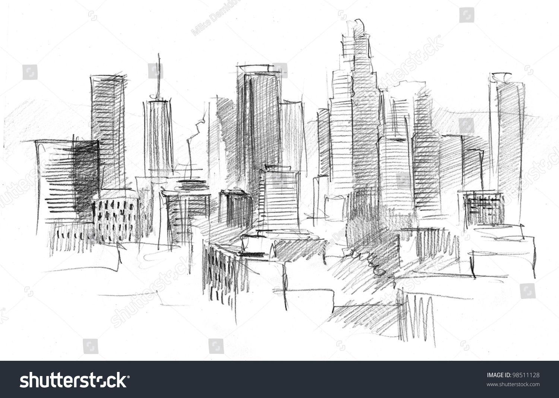 Bildergebnis Fur Pencil Drawing City City Drawing City Sketch Sketches