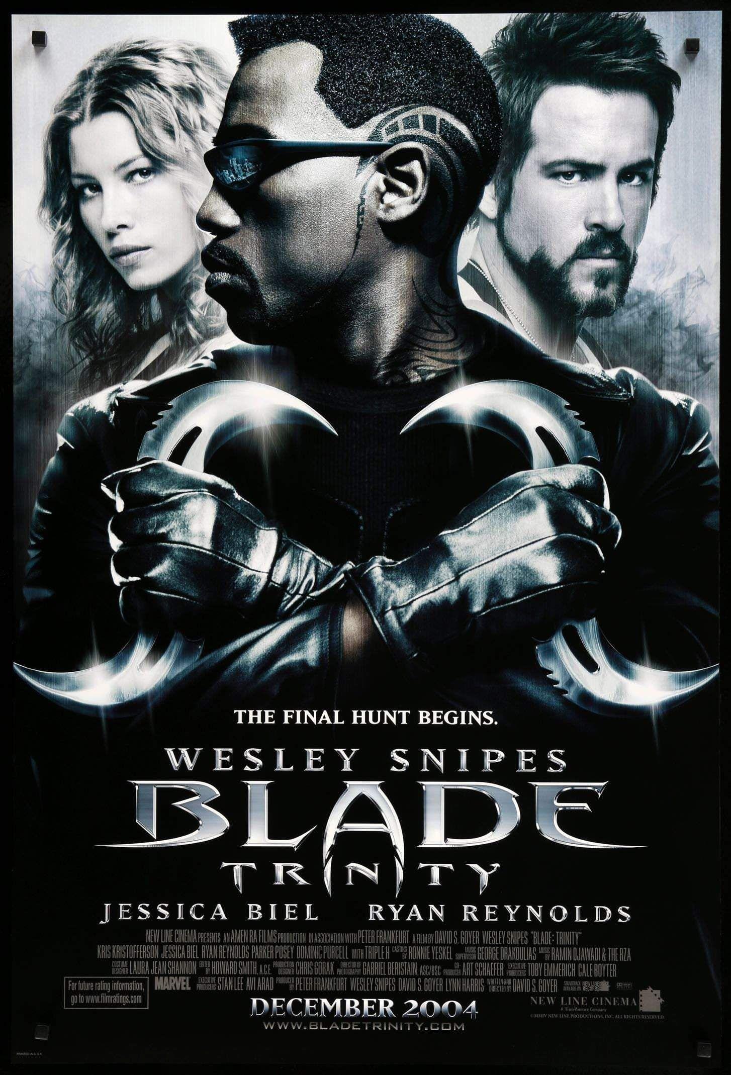 Blade Trinity 2004 Blade Movie Vampire Movies Marvel Movies