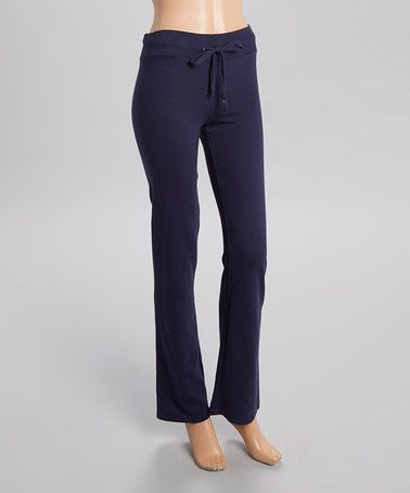 This Navy French Terry Lounge Pants by Heart & Hips is perfect! #zulilyfinds