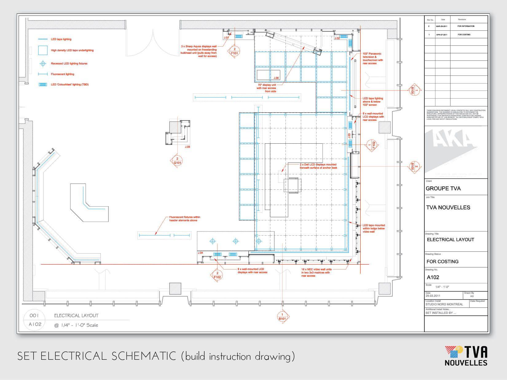Tva Nouvelles Electrical Layout Tv Set Design Design