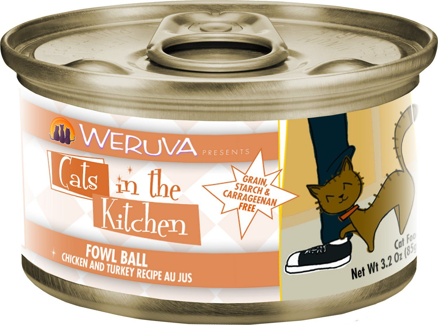 Contains Fish Oil But Not Fish Meat Your Kitty Loves Hanging Out In The Kitchen So Give Him The Home Cooked Canned Cat Food Cat Food Reviews Chicken Pumpkin